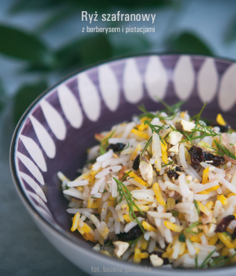 Ryż szafranowy z berberysem i pistacjami