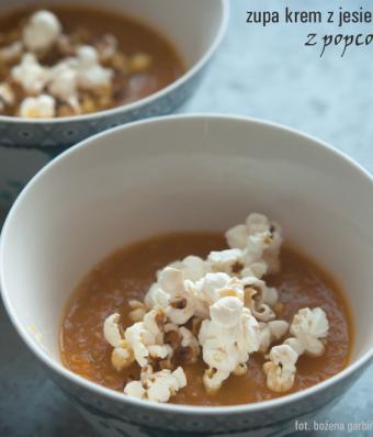 Zupa krem z jesiennych warzyw z popcornem