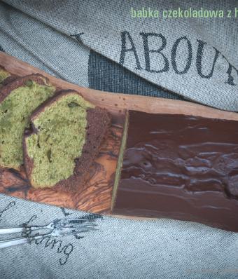 Babka czekoladowa z herbatą matcha