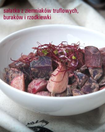 Sałatka z ziemniaków truflowych, buraków i rzodkiewki