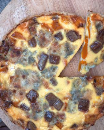 Tarta z membrillo i gorgonzolą