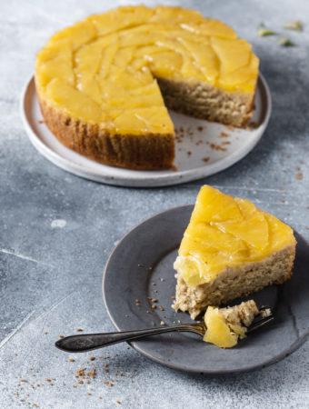 Bezglutenowe ciasto ananasowo-imbirowe